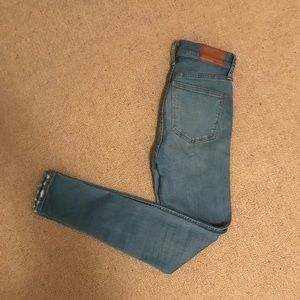 """Light wash 10"""" high rise skinny jeans"""